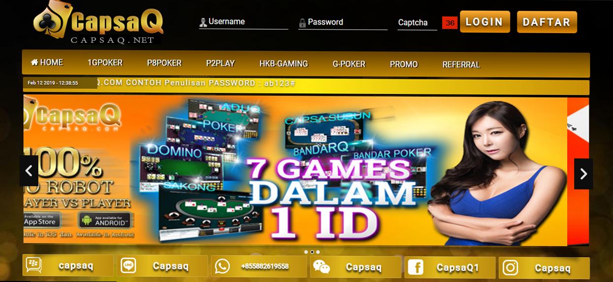 CapsaQ.net adalah Situs Judi Capsa Susun & Agen Poker Domino QQ Online terbaik dan terpercaya